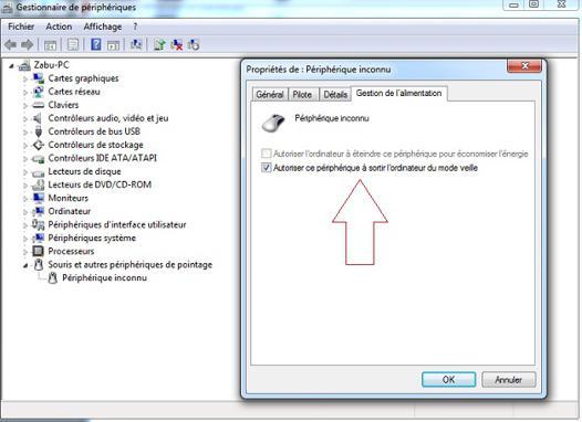 mise en veille windows 7 ne fonctionne pas