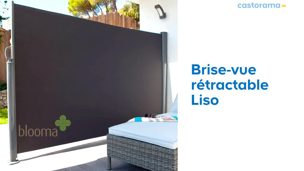 montage brise vue retractable