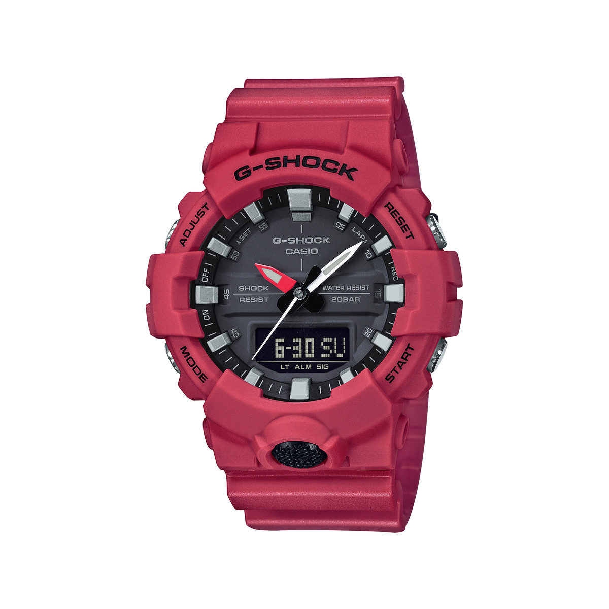 montre casio rouge