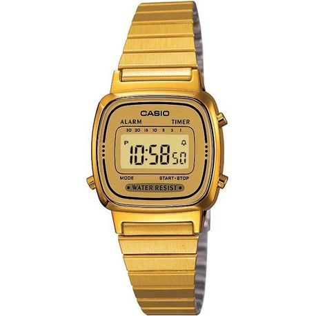 montre casio vintage or