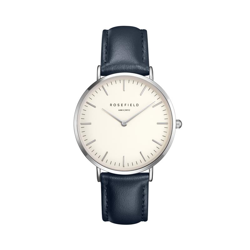 montre femme bracelet cuir bleu
