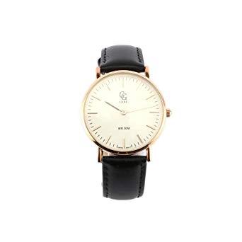 montre femme bracelet cuir noir