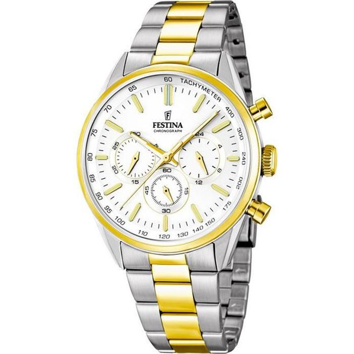 montre festina homme or