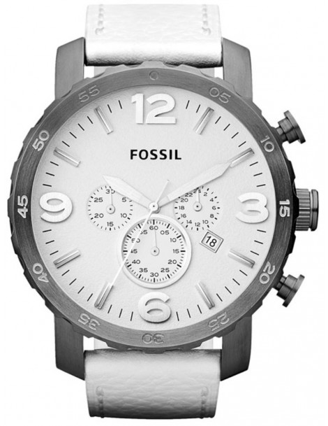 montre fossil blanche homme