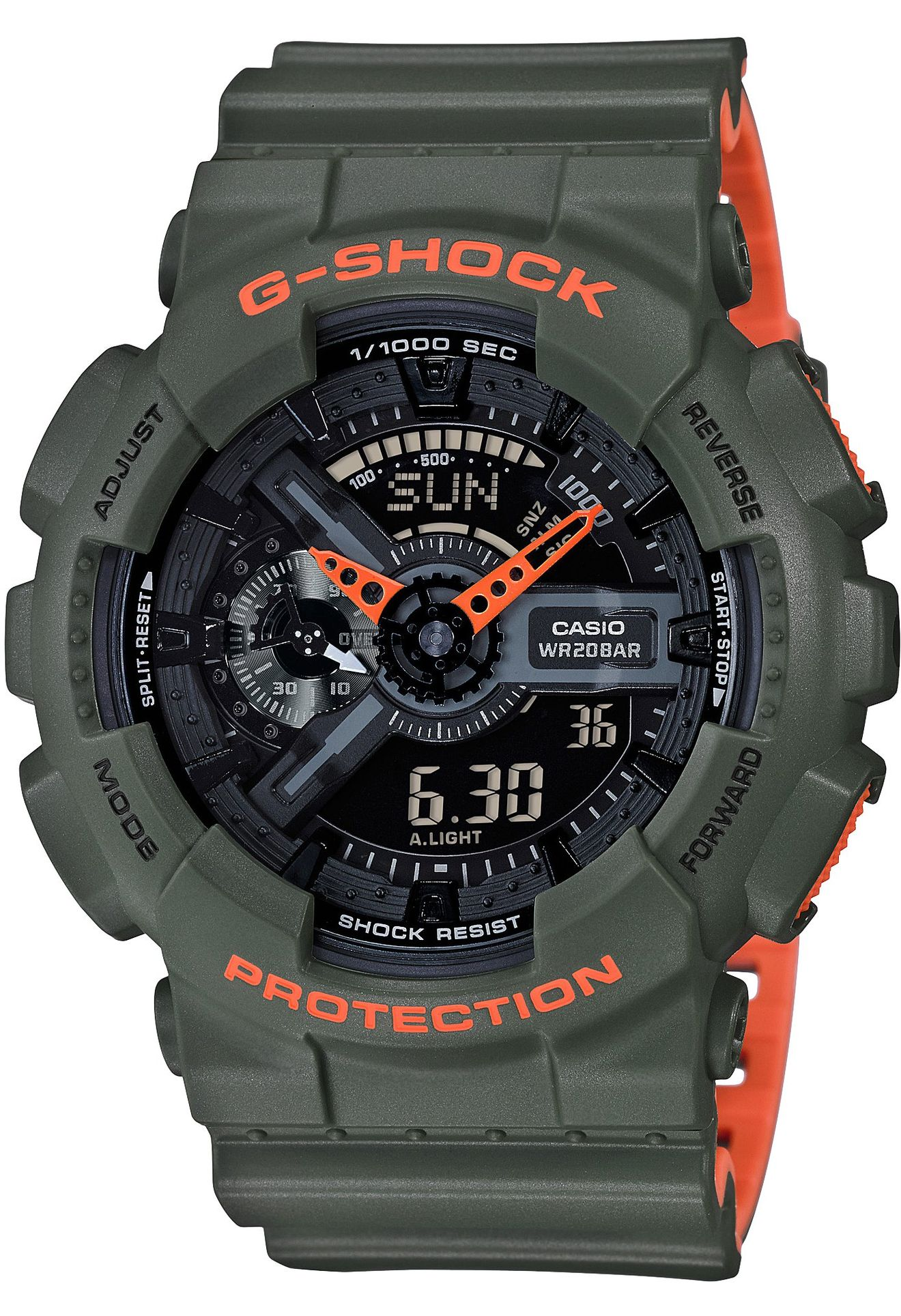 montre g shock kaki