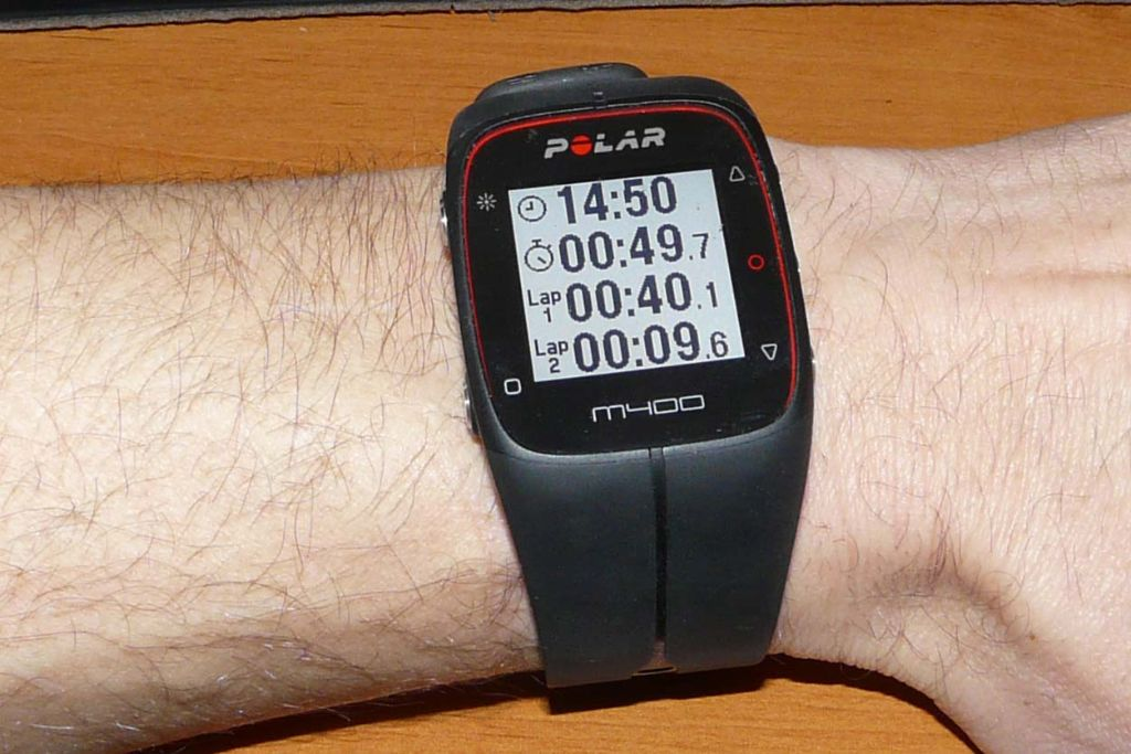 montre gps m400 noire polar