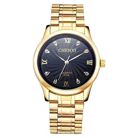 montre plaqué or homme
