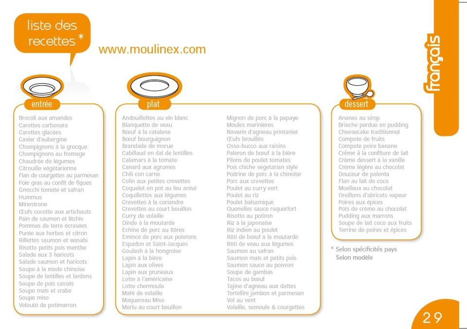 moulinex cookeo recettes
