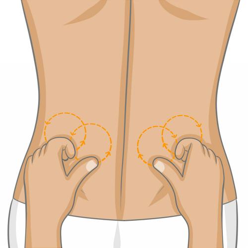 mouvement massage dos