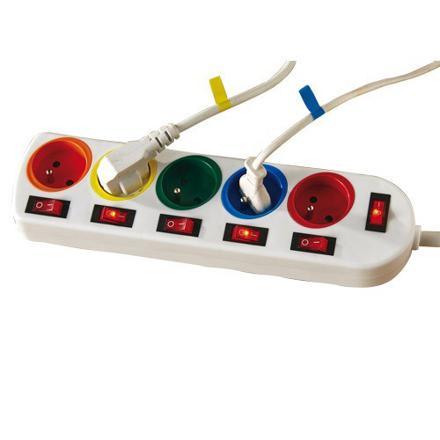 multiprise avec interrupteur pour chaque prise