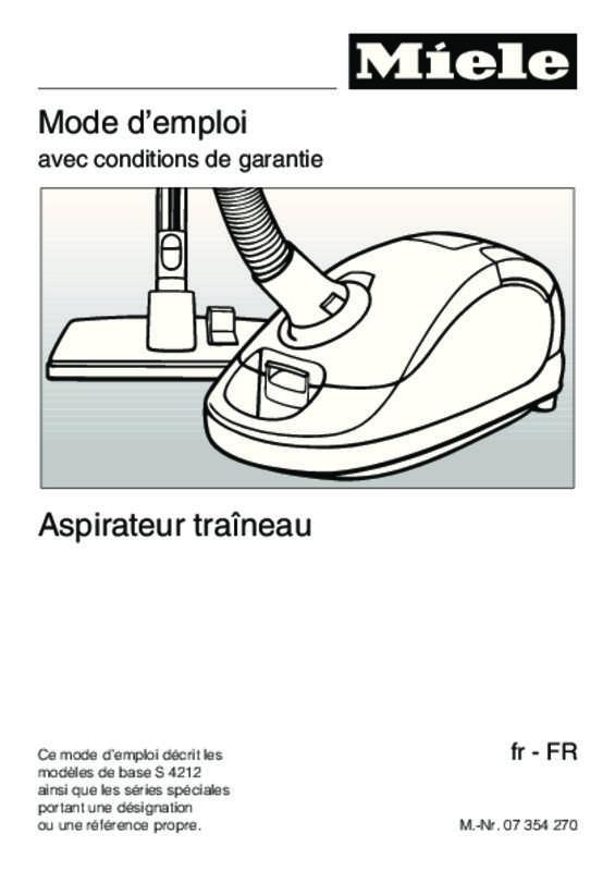 notice aspirateur miele