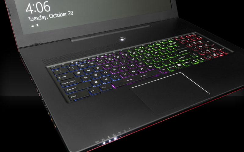 ordinateur portable avec clavier lumineux