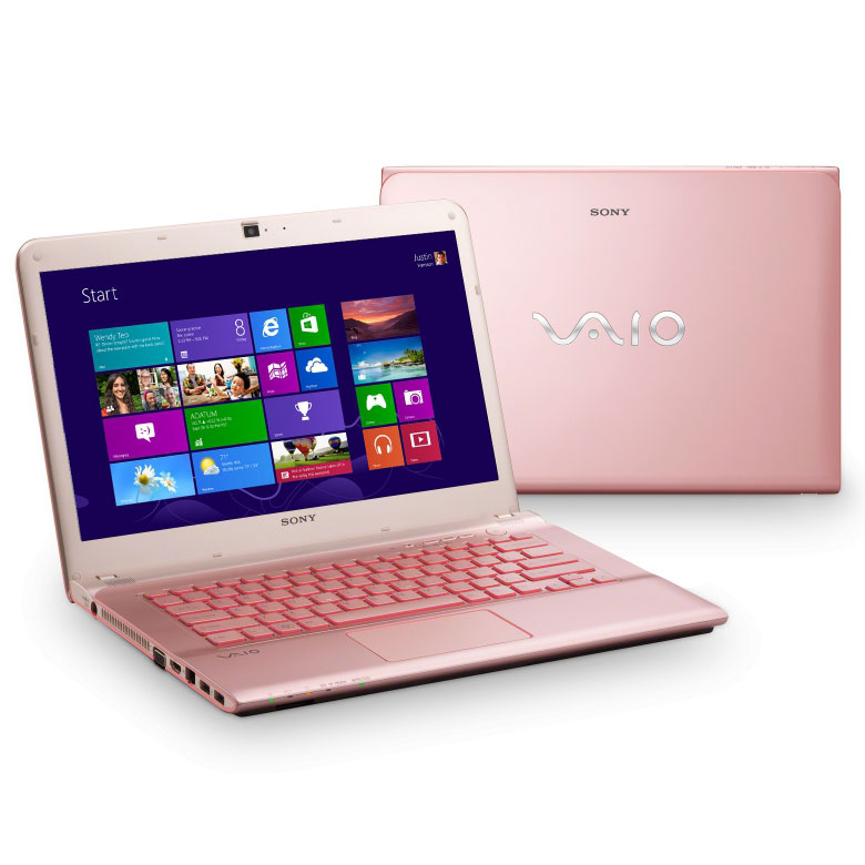 ordinateur vaio rose