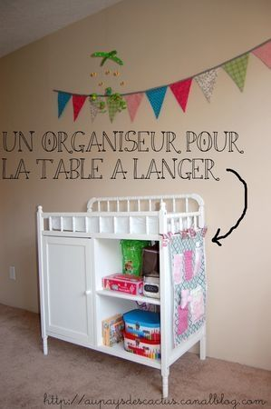 organiseur table à langer