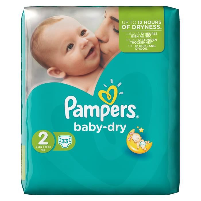 pampers baby dry prix