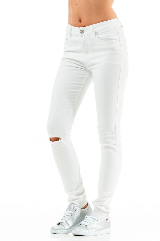 pantalon blanc pas cher