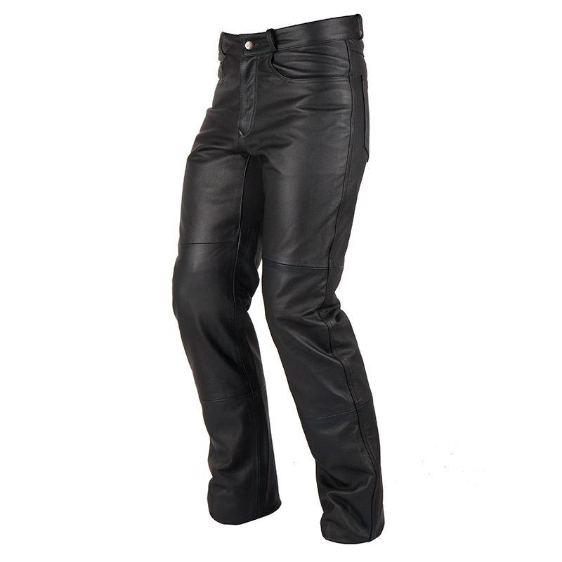 pantalon moto cuir homme