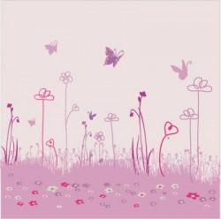 papier peint fille papillon