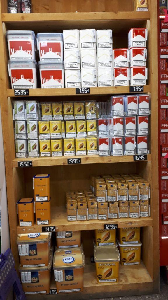 pas de la case prix cigarette