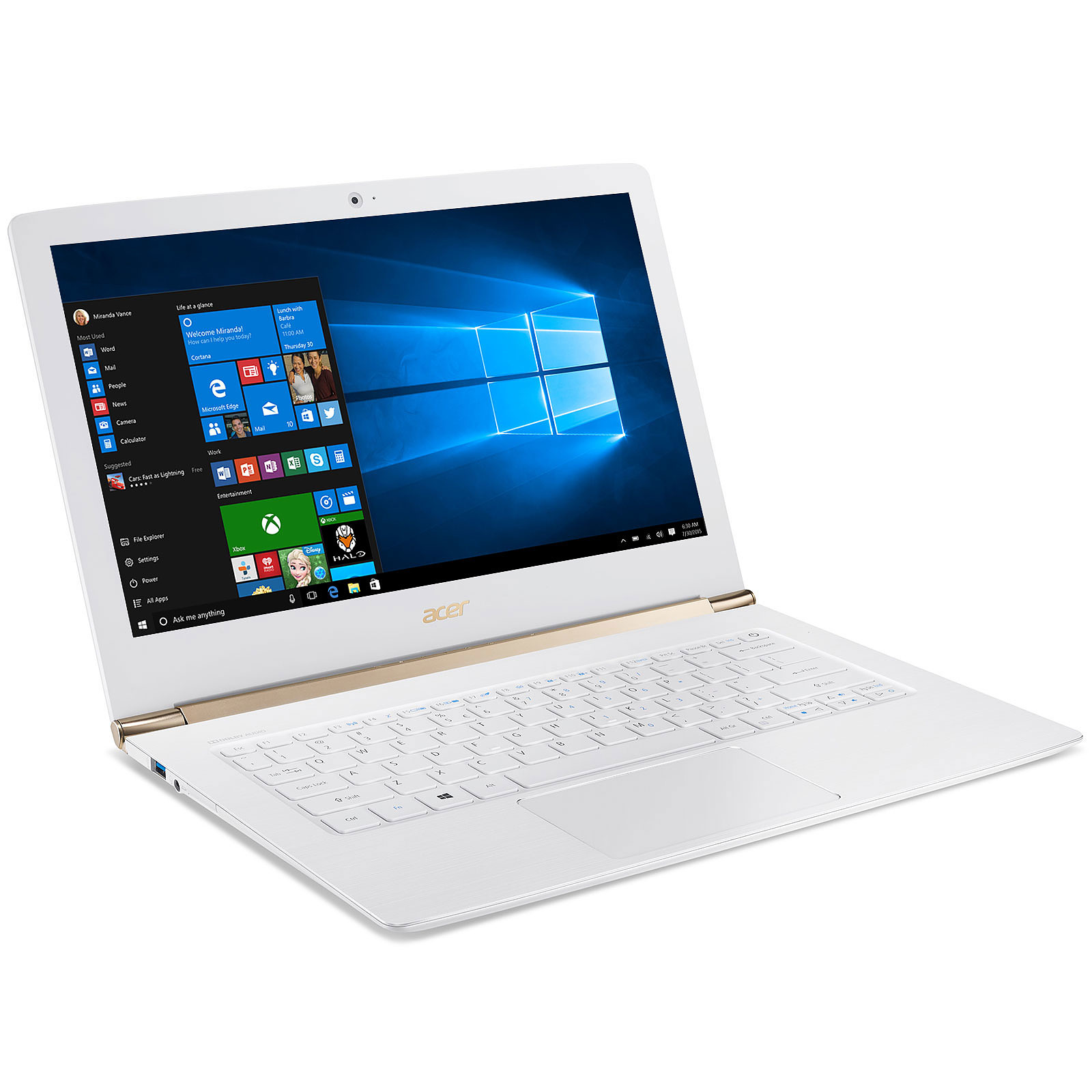 pc portable acer blanc