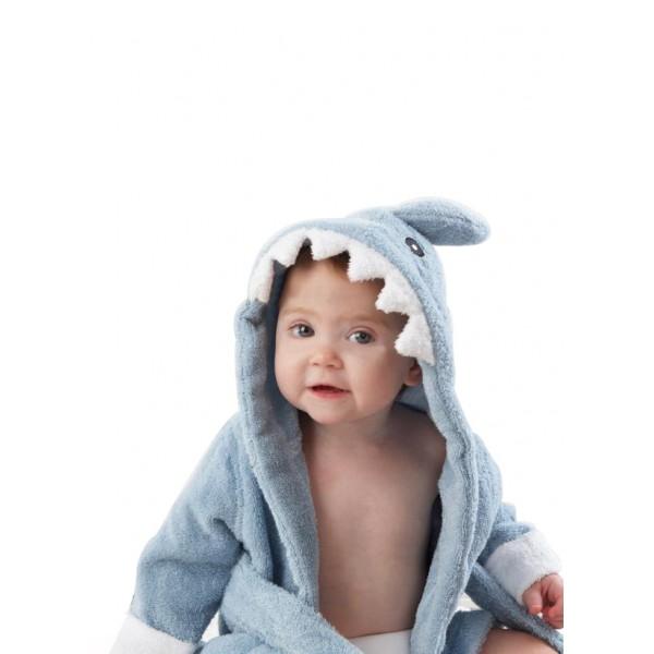 peignoir bebe requin