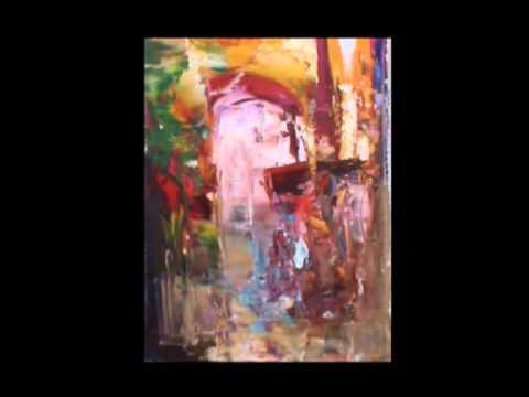 peinture à l'huile au couteau moderne