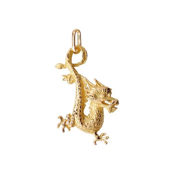 pendentif dragon or