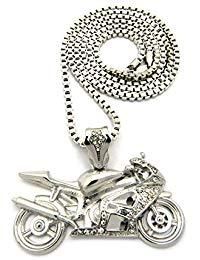 pendentif motard