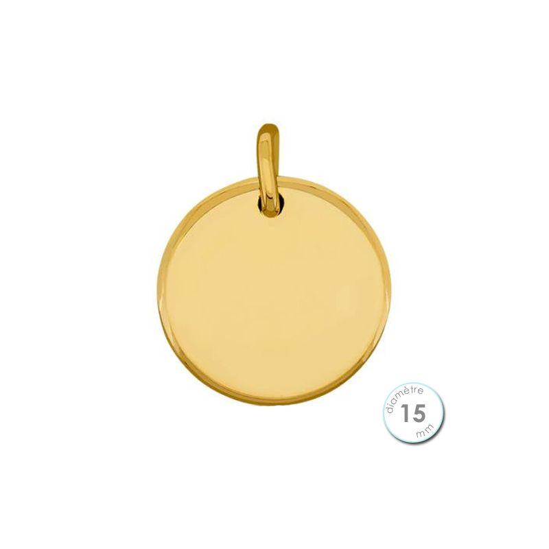 pendentif rond or jaune
