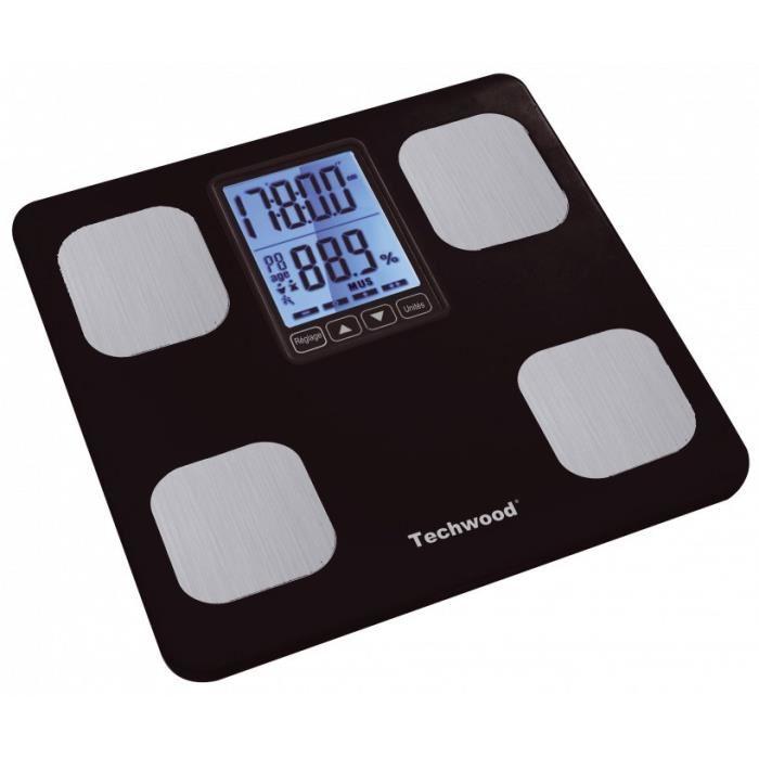 pèse personne avec mesure de masse graisseuse