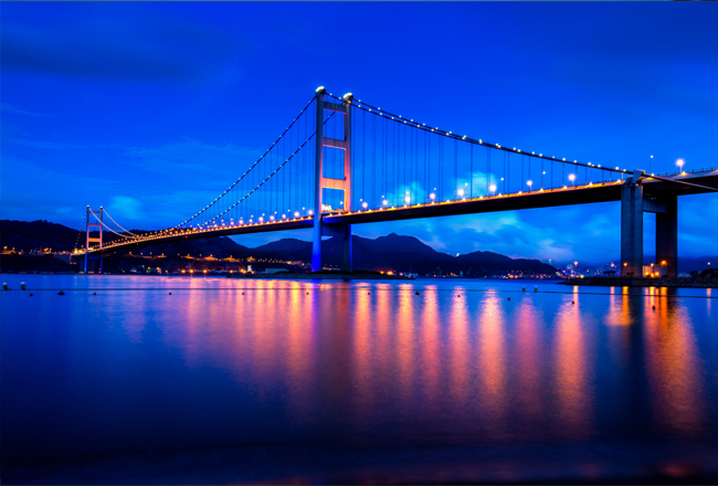 photo de pont suspendu