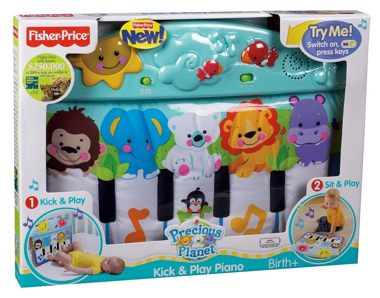 piano fisher price bébé