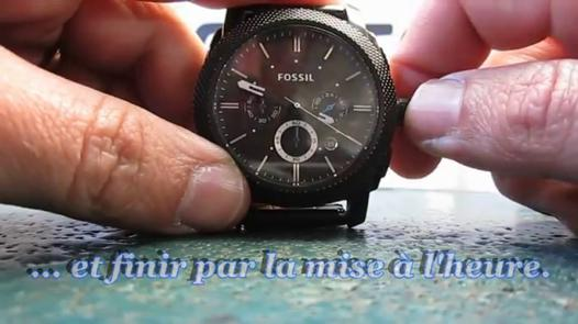 pile montre fossil