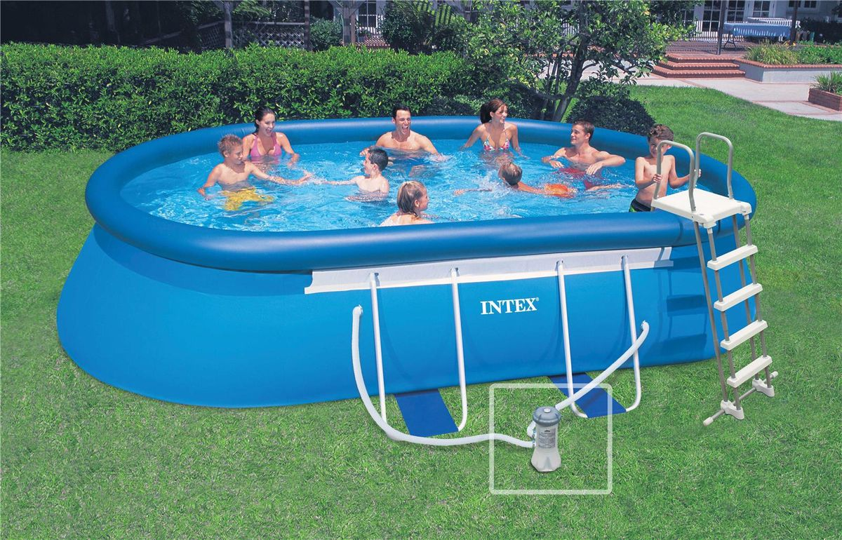 piscine hors sol ovale intex