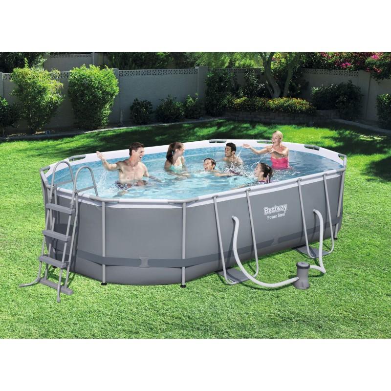 piscine tubulaire ovale steel pro frame