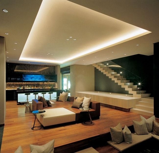 plafond led salon