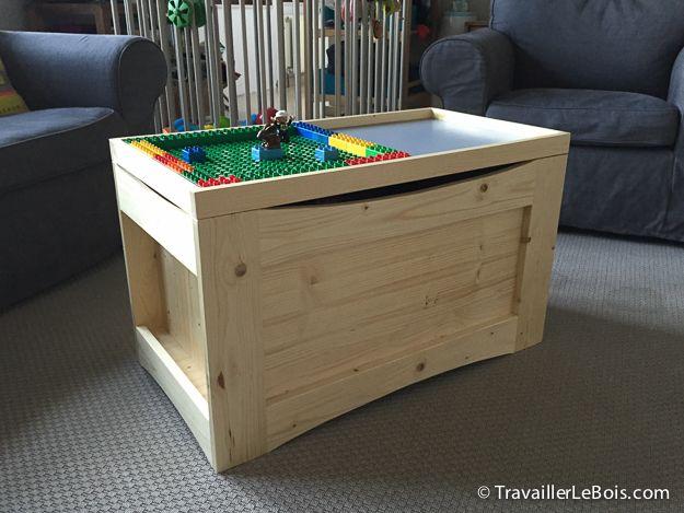 plan coffre à jouet en bois