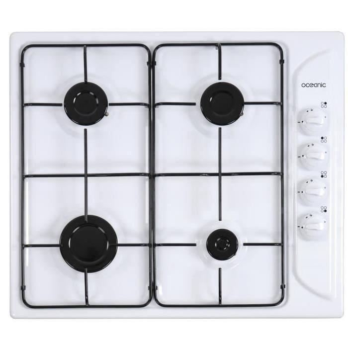 plaque de cuisson gaz blanche pas cher
