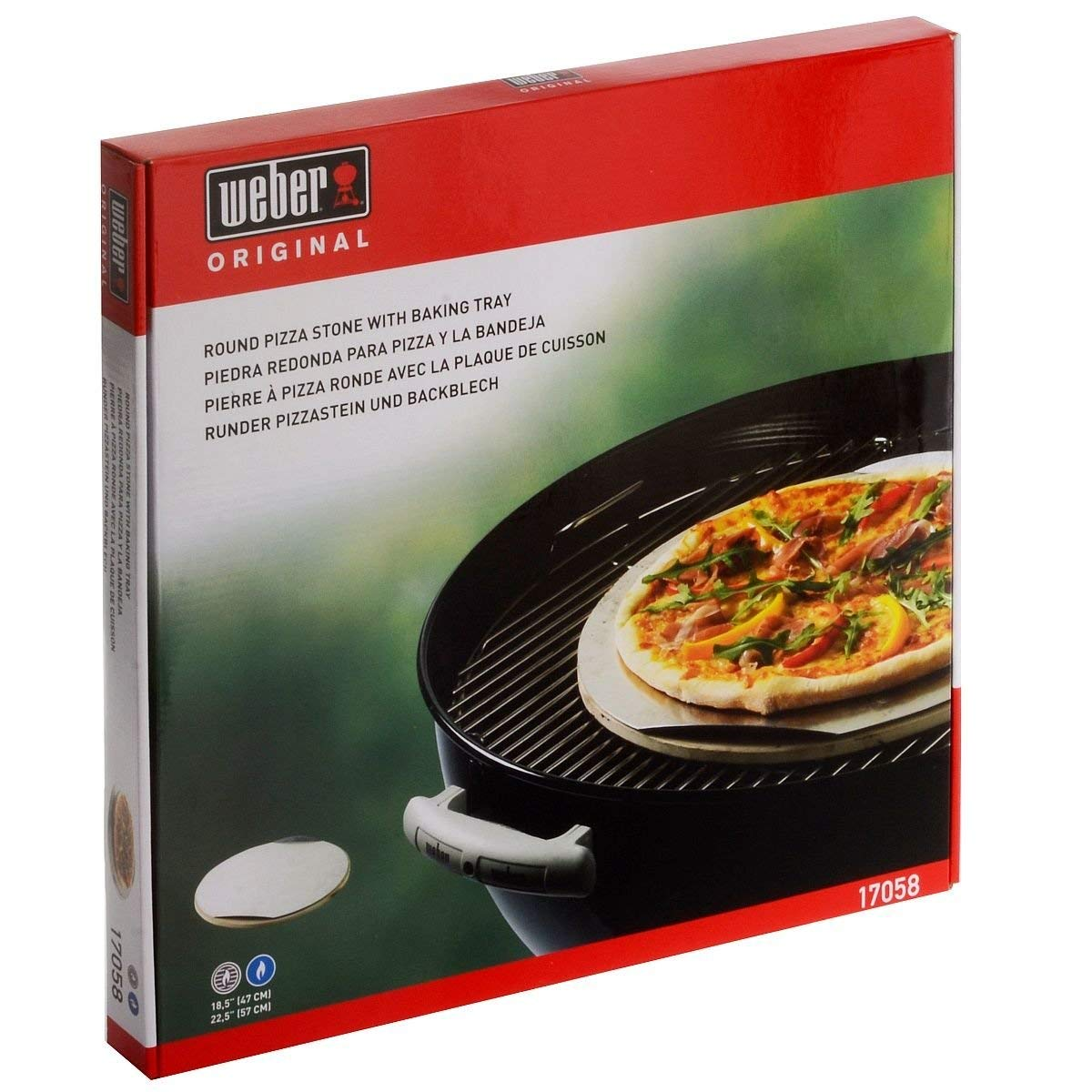 plaque pizza weber