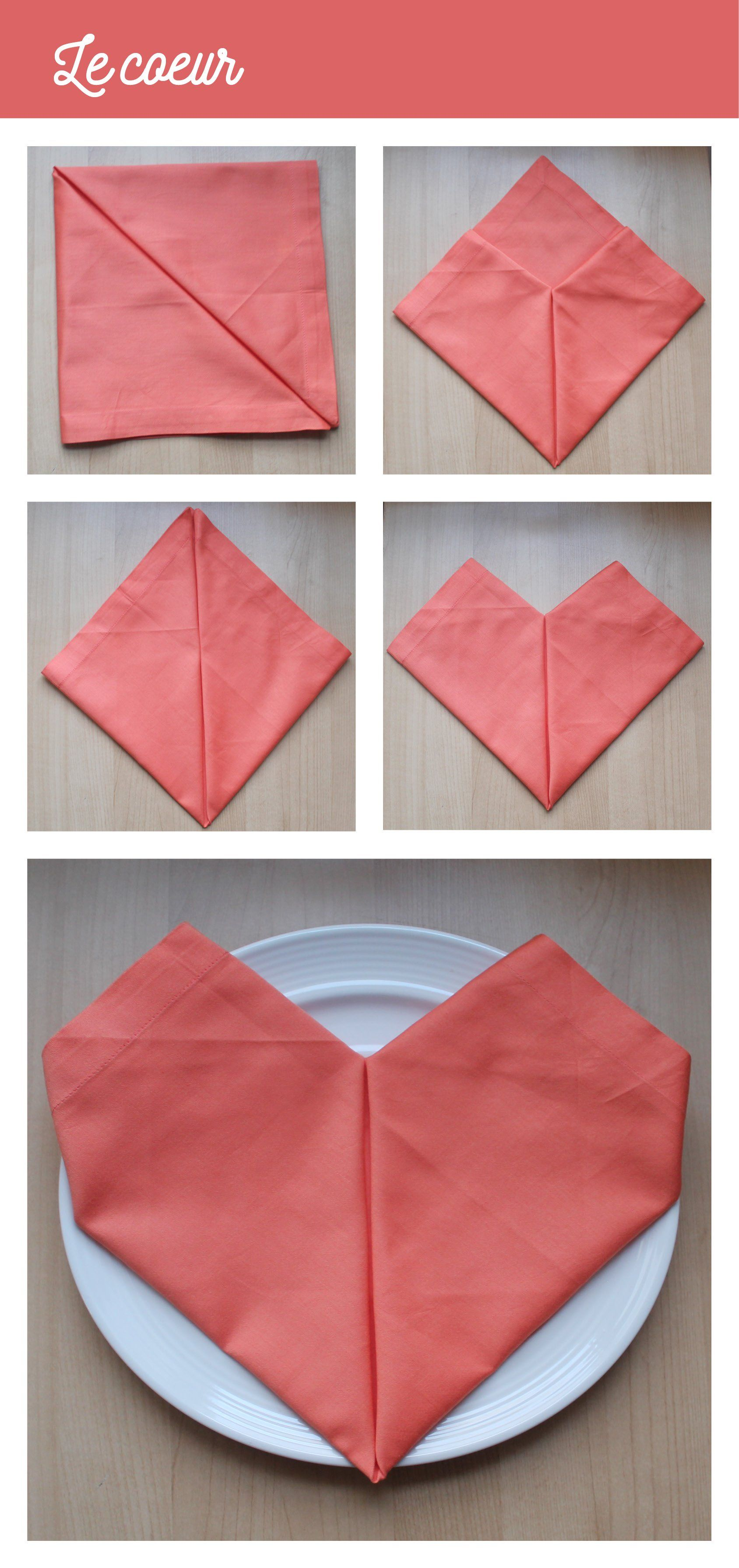 pliage serviette facile
