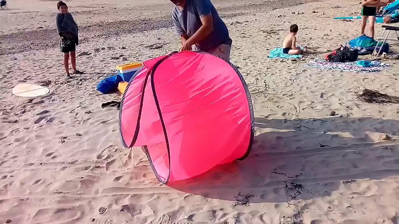 plier une tente de plage
