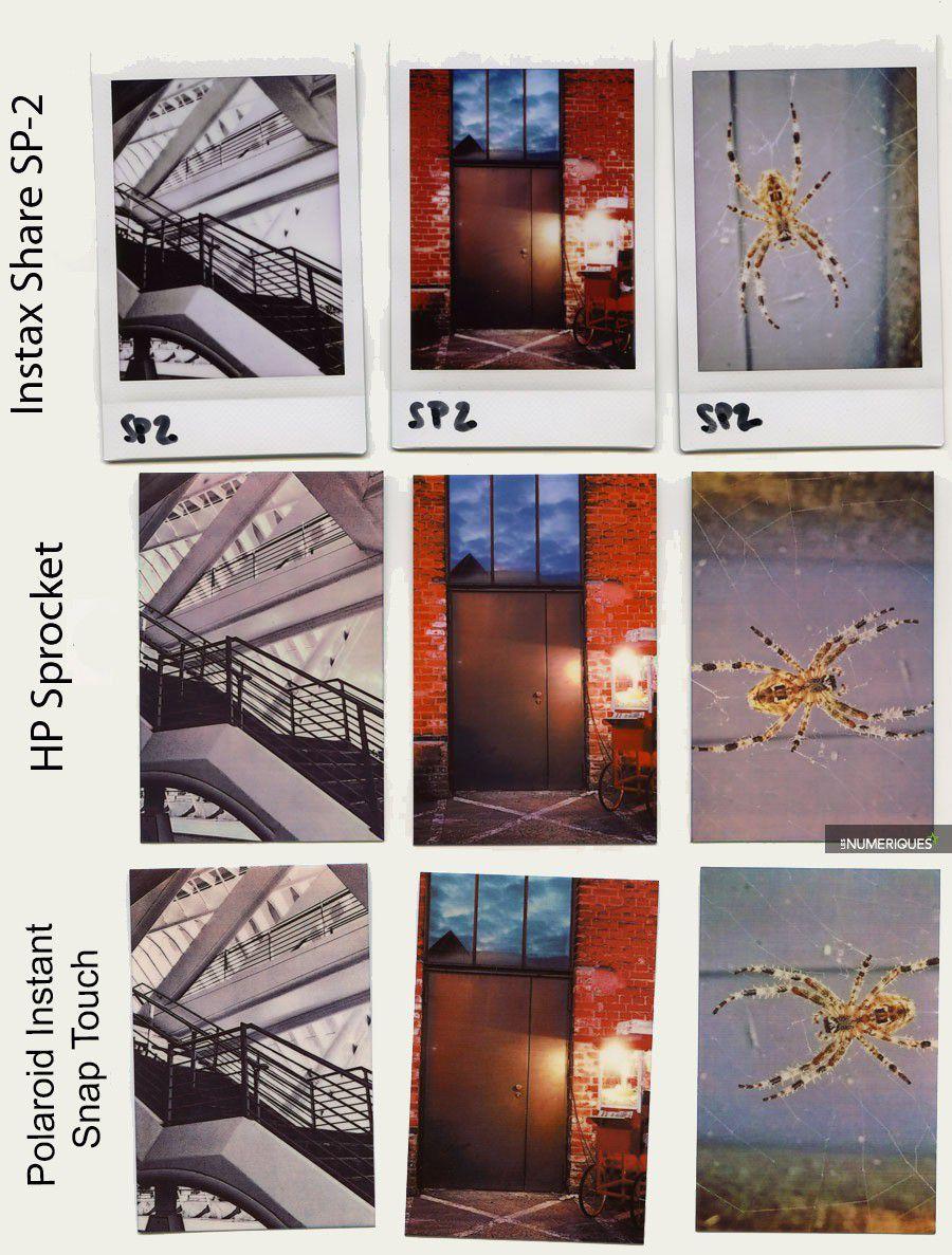polaroid comparaison