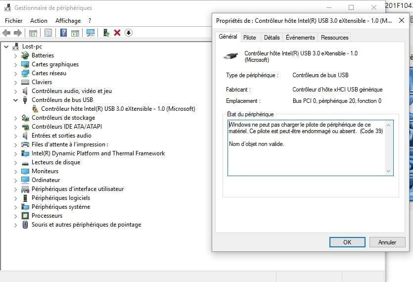 port usb ne fonctionne plus windows 7 portable