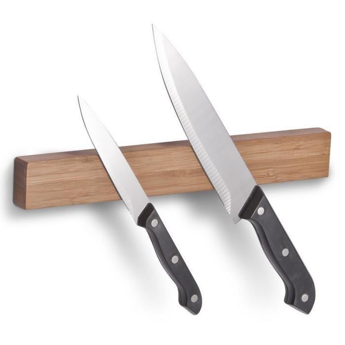 porte couteau aimanté bois