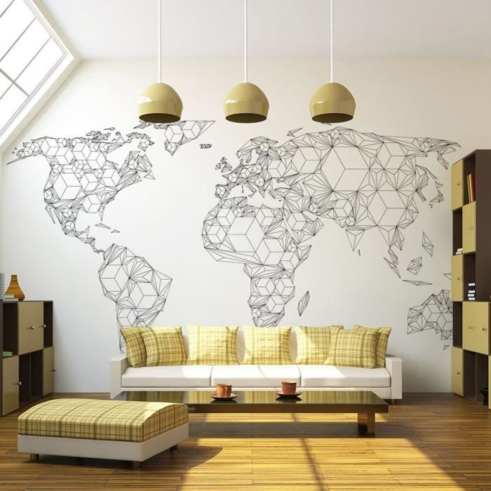 poster carte du monde xxl