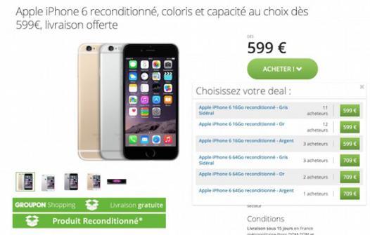 prix iphone 6s reconditionné