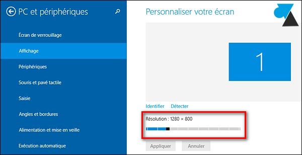 probleme résolution écran windows 10