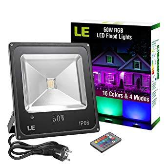 projecteur led multicolor exterieur