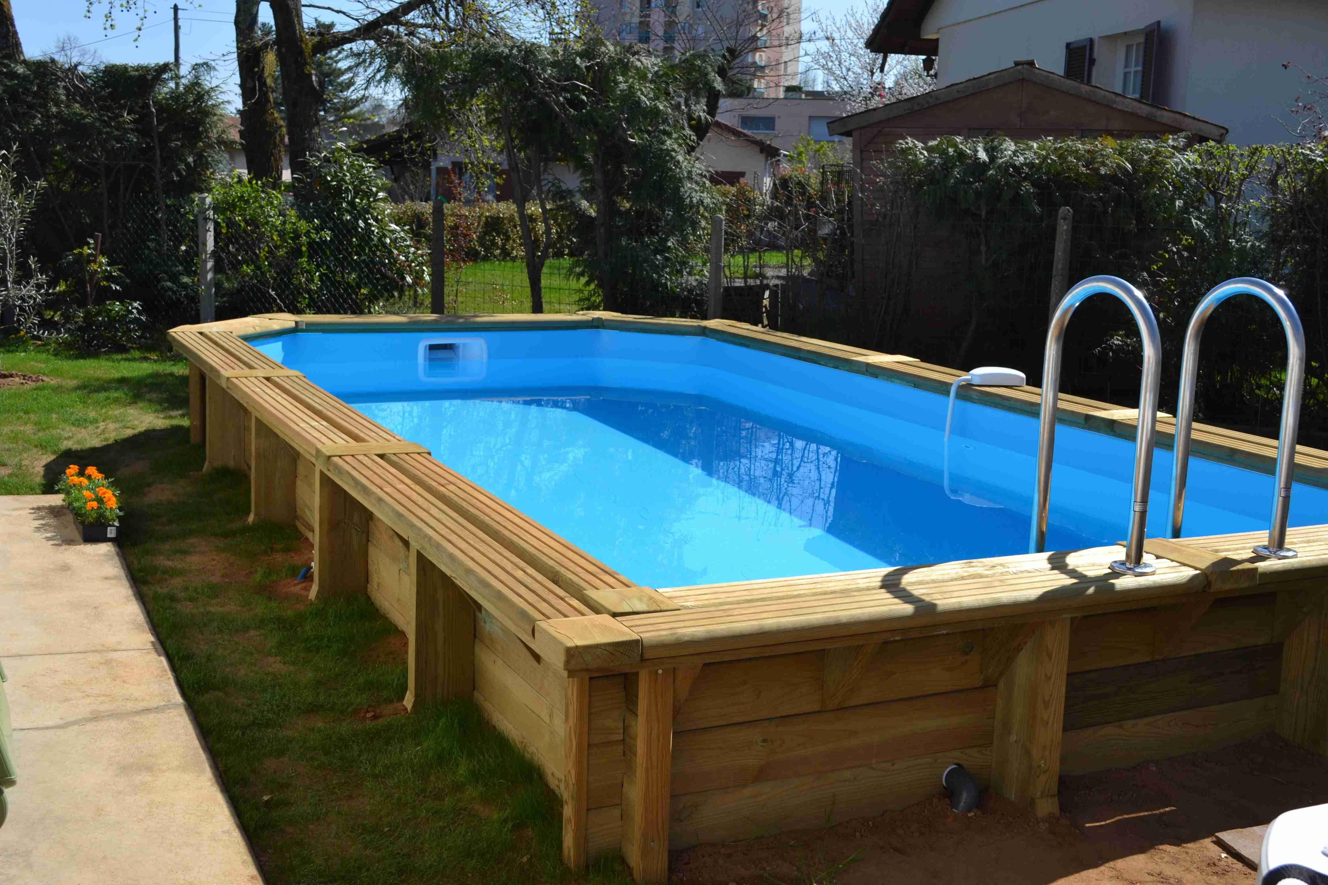 promo piscine hors sol bois