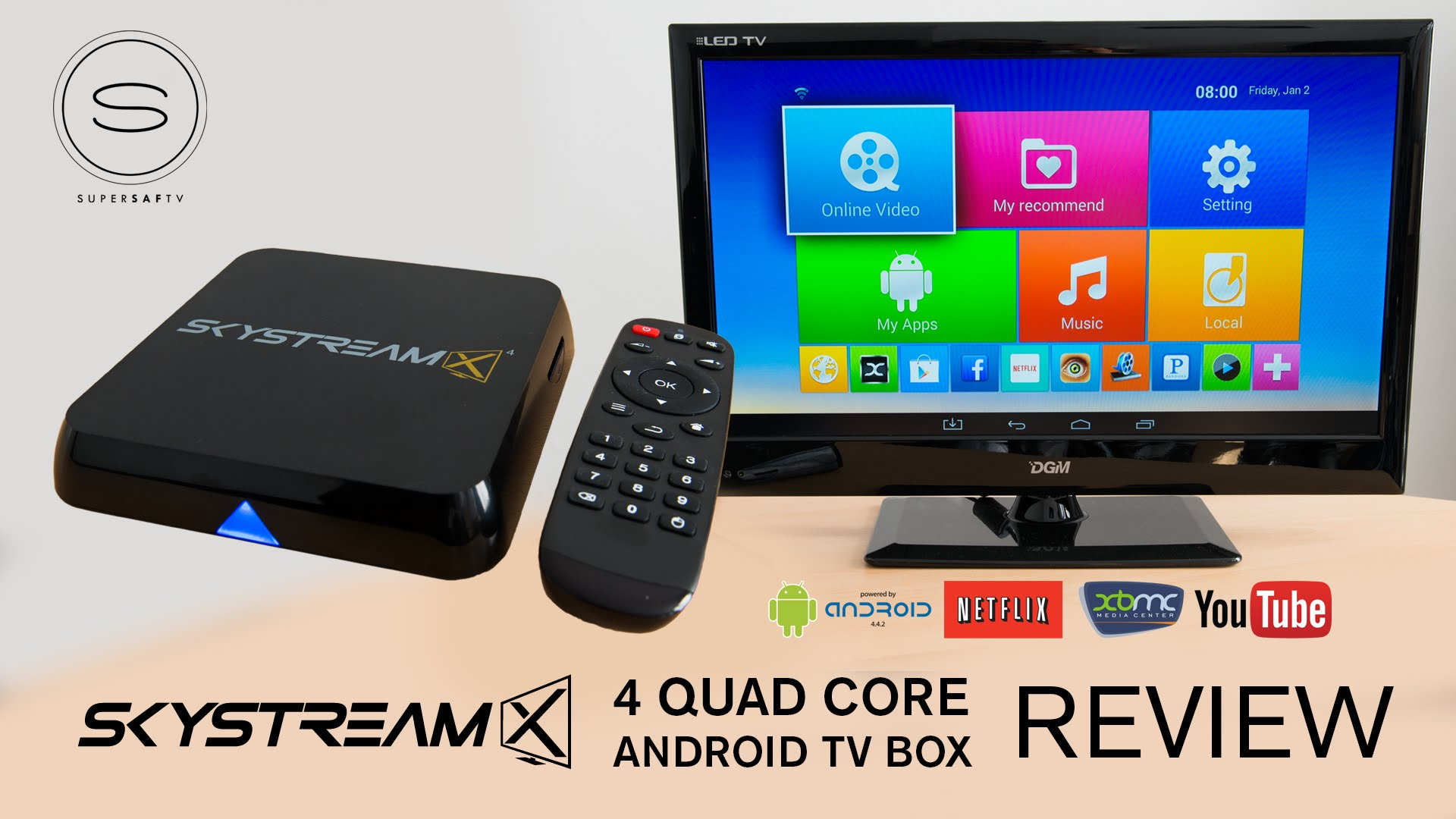quad core smart tv box